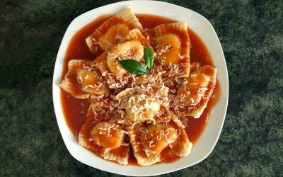 Vegan Ravioli Marinara