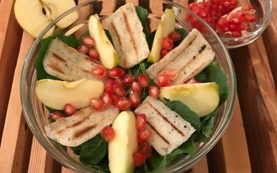 Vegan Halloumi Salad