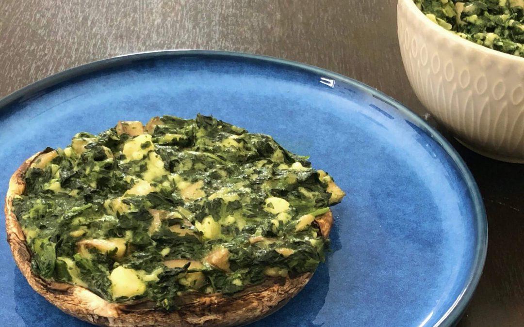 Vegan Spinach & Mushroom